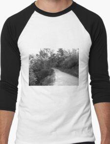 Black And White Landscape 18 Men's Baseball ¾ T-Shirt