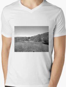 Black And White Landscape 19 Mens V-Neck T-Shirt