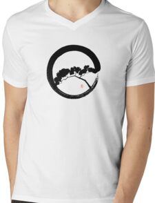 Tree Enso Mens V-Neck T-Shirt