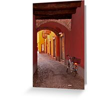 Italian Street Greeting Card