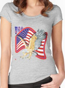 PATRIOTISM / USA Women's Fitted Scoop T-Shirt