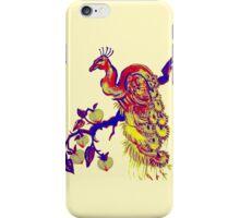Peacock in a Peach Tree (Remix) iPhone Case/Skin
