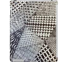 Abstract Geometric Black and White Zentangle iPad Case/Skin