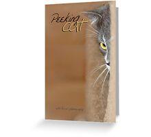Peeking Cat © Greeting Card