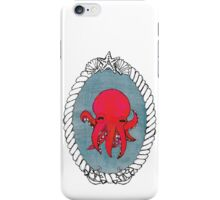 Tiny Red Octopus Portrait iPhone Case/Skin