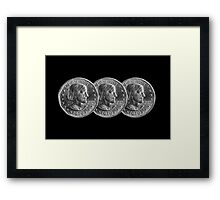 American Coins Framed Print