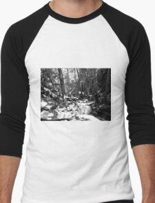 Black And White Landscape 23  Men's Baseball ¾ T-Shirt