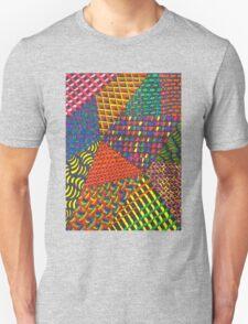 Abstract Geometric Rainbow Zentangle Unisex T-Shirt