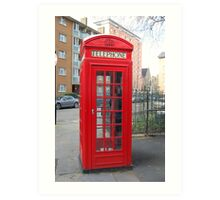 London Telephone Box Art Print