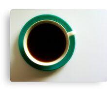 Black Coffee - Green Plate Canvas Print