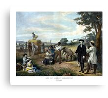 George Washington The Farmer Canvas Print