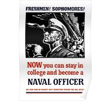 Become A Naval Officer -- WW2 Poster