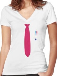 Corporate mishap Women's Fitted V-Neck T-Shirt