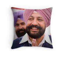 Happy Sikh Throw Pillow