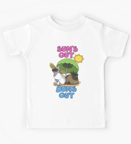 Sun's Out Buns Out Kids Tee