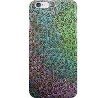 Geometric Peacock Oil Pastel Etching iPhone Case/Skin