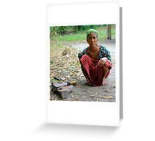 Mising tribe woman, Assam, India. Greeting Card