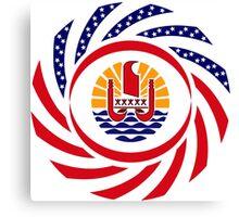 French Polynesian American Multinational Patriot Flag Series Canvas Print