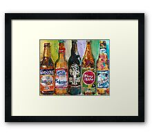 Alaskan - Budweiser - Arrogant - Pliny - Blue Moon Beer  Beer Painting Art Framed Print
