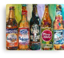 Alaskan - Budweiser - Arrogant - Pliny - Blue Moon Beer  Beer Painting Art Canvas Print