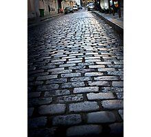 Cobbled street, Montmartre Photographic Print