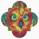 quatrefoil owl by HiddenStash