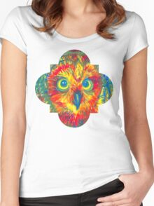 quatrefoil owl Women's Fitted Scoop T-Shirt