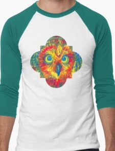 quatrefoil owl Men's Baseball ¾ T-Shirt