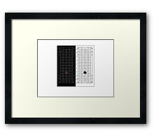 House of Black and White - Game of Thrones - No Silouhette Framed Print