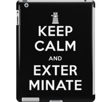Keep Calm And Exterminate Doctor Who iPad Case/Skin