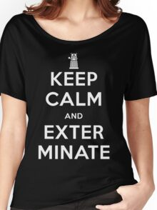 Keep Calm And Exterminate Doctor Who Women's Relaxed Fit T-Shirt