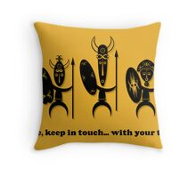 Keep in Touch Card Throw Pillow