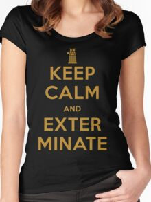 Keep Calm And Exterminate Doctor Who Women's Fitted Scoop T-Shirt