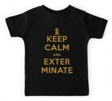 Keep Calm And Exterminate Doctor Who Kids Tee