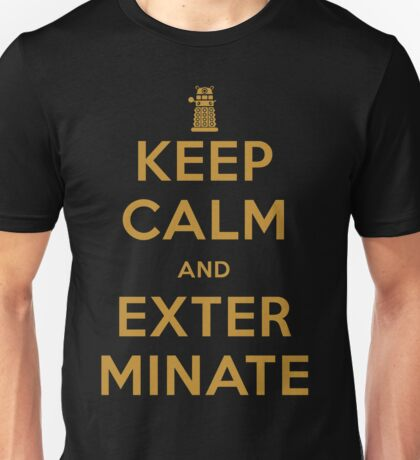 Keep Calm And Exterminate Doctor Who Unisex T-Shirt