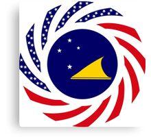 Tokelauan American Multinational Patriot Flag Series Canvas Print