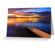 Swan River Jetty - Western Australia  Greeting Card
