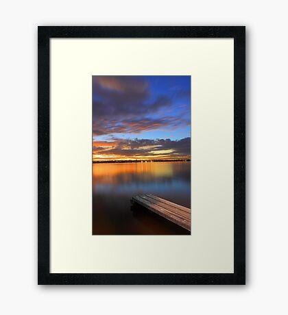 Swan River Jetty At Sunset  Framed Print