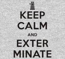 Keep Calm And Exterminate Doctor Who One Piece - Long Sleeve