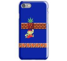8-bit Retro Mario Marijuana iPhone Case/Skin