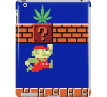 8-bit Retro Mario & Marijuana iPad Case/Skin