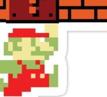 8-bit Retro Mario & Marijuana Sticker