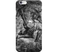 When The Stars Are Right - The Helix Nebula In Aquarius (black & white version) iPhone Case/Skin