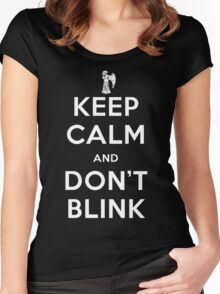 Doctor Who Keep Calm And Don't Blink Women's Fitted Scoop T-Shirt