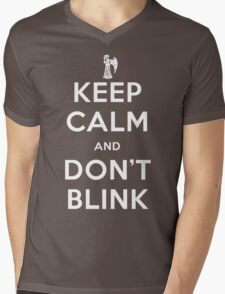 Doctor Who Keep Calm And Don't Blink Mens V-Neck T-Shirt