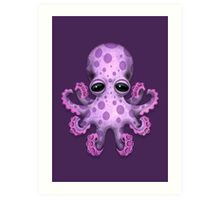 Cute Purple Baby Octopus Art Print