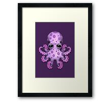 Cute Purple Baby Octopus Framed Print