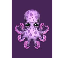 Cute Purple Baby Octopus Photographic Print