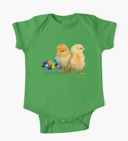 I Am Sweet! - Chicks & Jelly Beans One Piece - Short Sleeve