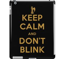 Doctor Who Keep Calm And Don't Blink iPad Case/Skin
